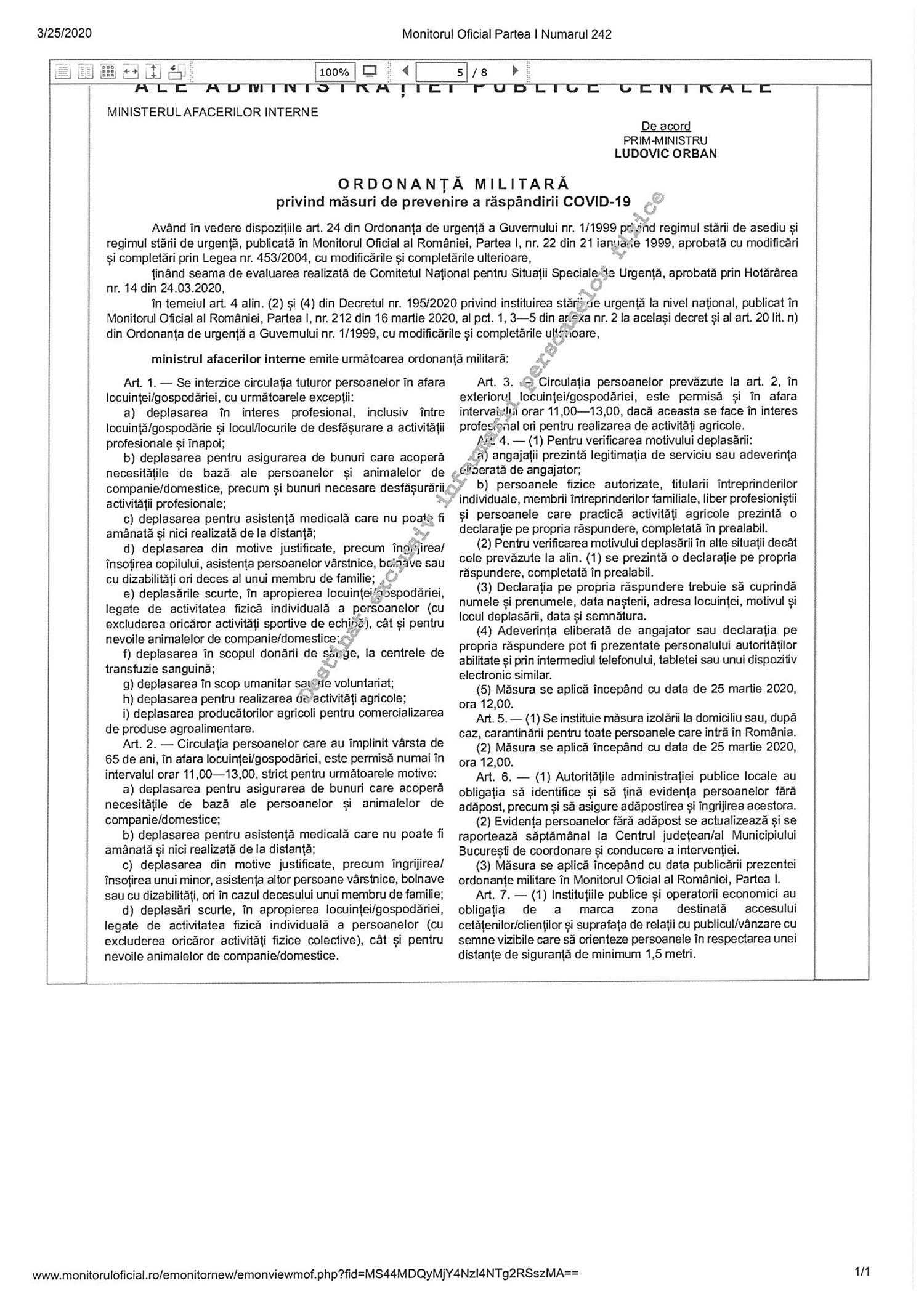 MOf 242 Ord Militara 3 din 2020 2